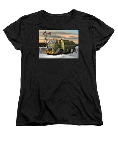 Autocar Waterwagon Women's T-Shirt (Standard Cut) by Stuart Swartz