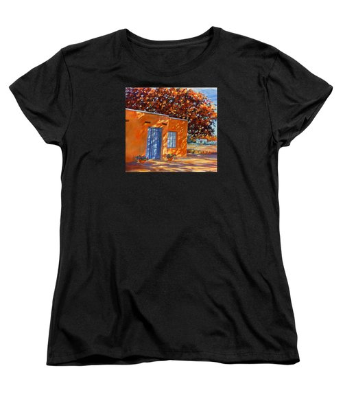 Women's T-Shirt (Standard Cut) featuring the painting Autumn Afternoon by Ann Peck