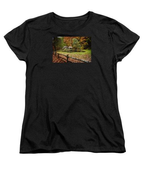 Autumn At Cuttalossa Farm V Women's T-Shirt (Standard Cut) by Debra Fedchin