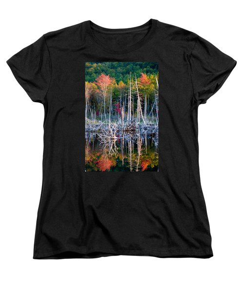 Autumn At Moosehead Bog Women's T-Shirt (Standard Cut) by Brent L Ander