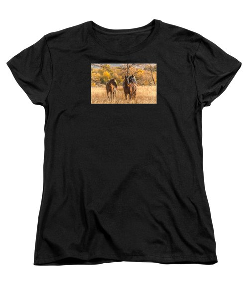 Women's T-Shirt (Standard Cut) featuring the photograph Autumn Beauty At Dawn by Yeates Photography