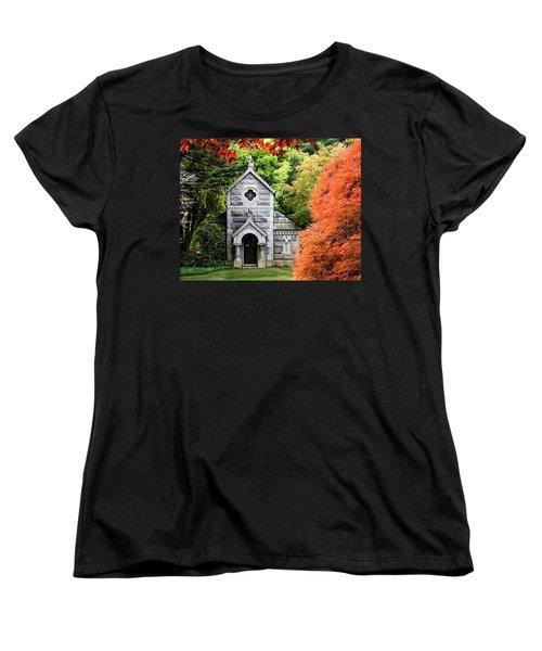 Autumn Chapel Women's T-Shirt (Standard Cut) by Betty Denise