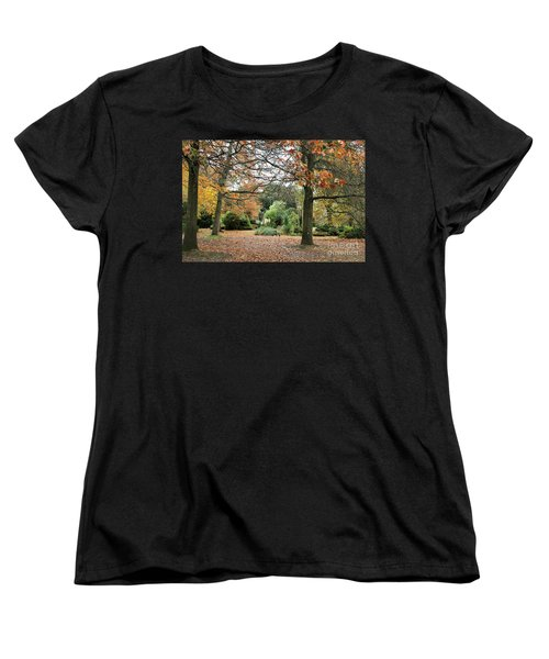 Autumn Fall Women's T-Shirt (Standard Cut) by Katy Mei