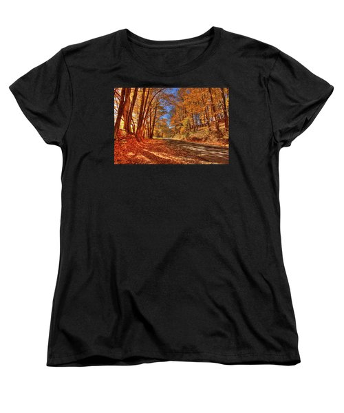Autumn Glow Women's T-Shirt (Standard Cut) by Dale R Carlson