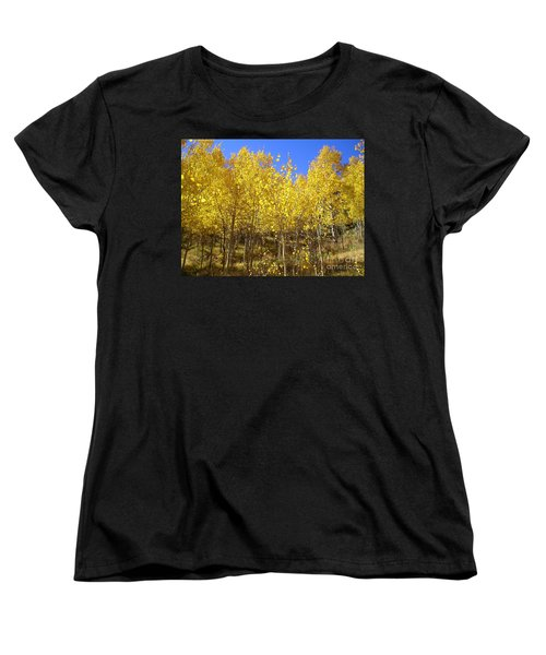 Autumn Gold Women's T-Shirt (Standard Cut) by Ellen Heaverlo