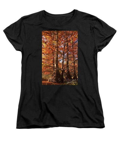 Women's T-Shirt (Standard Cut) featuring the photograph Autumn Grandeur At Lake Murray by Tamyra Ayles
