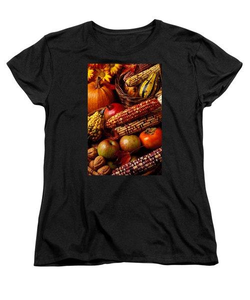 Autumn Harvest  Women's T-Shirt (Standard Cut) by Garry Gay