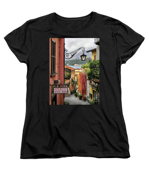 Autumn In Bellagio Women's T-Shirt (Standard Cut) by Jennie Breeze