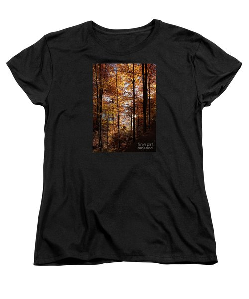 Autumn In The Alps 4 Women's T-Shirt (Standard Cut) by Rudi Prott