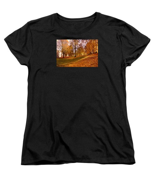Women's T-Shirt (Standard Cut) featuring the photograph Autumn In The City Park Maastricht by Nop Briex