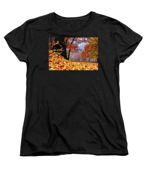 Autumn In The Woodland Women's T-Shirt (Standard Cut) by Hannes Cmarits