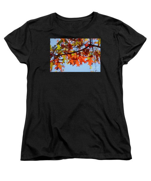 Autumn Leaves 16 Women's T-Shirt (Standard Cut) by Jean Bernard Roussilhe