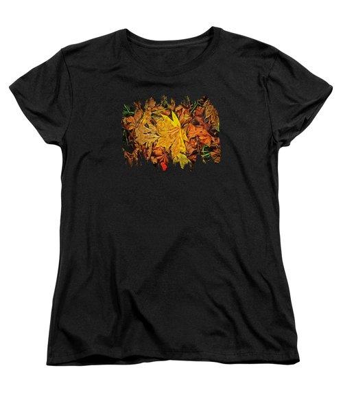 Autumn Leaves Of Beaver Creek Women's T-Shirt (Standard Cut) by Thom Zehrfeld