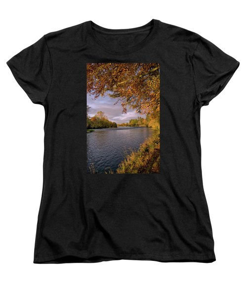 Autumn Light By The River Ness Women's T-Shirt (Standard Cut) by Jacqi Elmslie