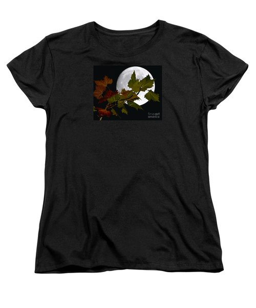 Women's T-Shirt (Standard Cut) featuring the photograph Autumn Moon by Patrick Witz