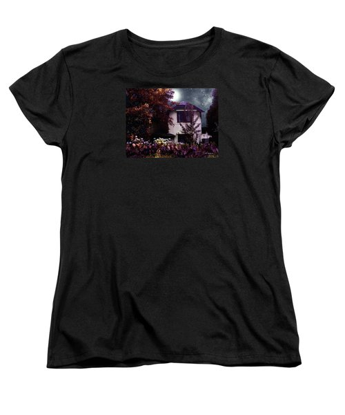 Autumn Night In The Country Women's T-Shirt (Standard Cut) by RC deWinter