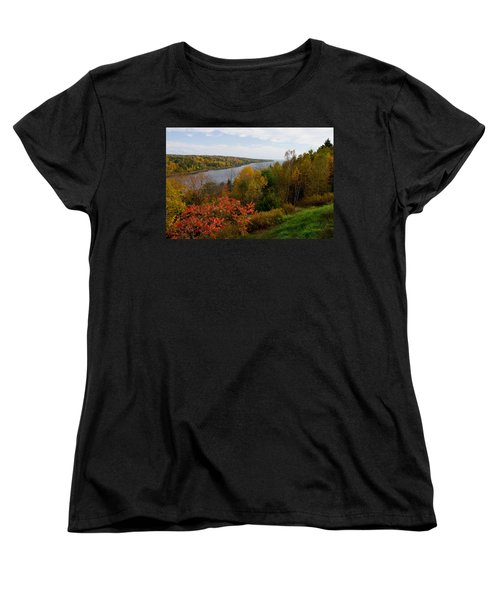 Autumn On The Penobscot Women's T-Shirt (Standard Cut) by Brent L Ander
