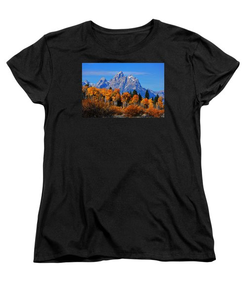 Autumn Peak Beneath The Peaks Women's T-Shirt (Standard Cut) by Greg Norrell