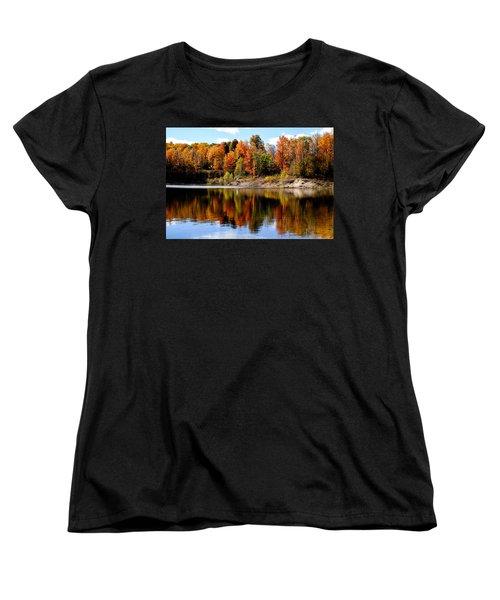 Autumn Reflected Women's T-Shirt (Standard Cut) by John McArthur