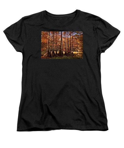 Women's T-Shirt (Standard Cut) featuring the photograph Autumn Splendor At Lake Murray by Tamyra Ayles