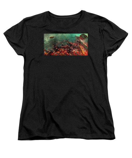 Women's T-Shirt (Standard Cut) featuring the photograph Autumn Submerged by David Patterson