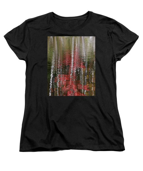 Women's T-Shirt (Standard Cut) featuring the photograph Autumn Water Color by Susan Capuano