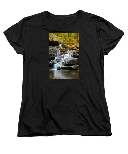 Autumn Waterfall Women's T-Shirt (Standard Cut) by Shelby  Young