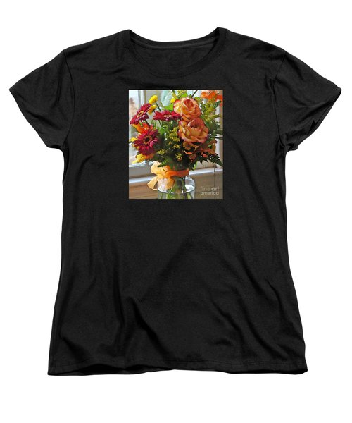 Women's T-Shirt (Standard Cut) featuring the photograph Autumn Window by Betsy Zimmerli