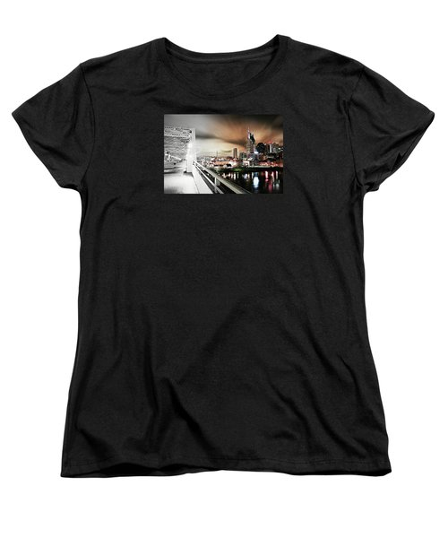 Awaiting The Dark Knight Women's T-Shirt (Standard Cut) by Matt Helm