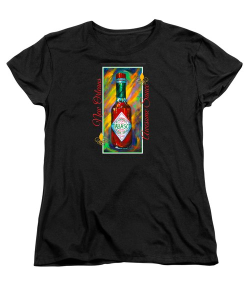 Awesome Sauce - Tabasco Women's T-Shirt (Standard Cut) by Dianne Parks