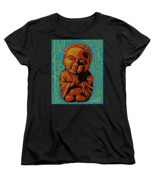 Women's T-Shirt (Standard Cut) featuring the painting Baby Buddha by Ashley Price