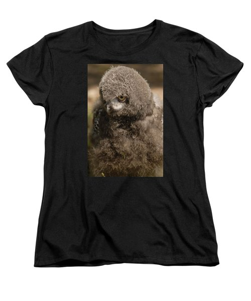 Women's T-Shirt (Standard Cut) featuring the photograph Baby Snowy Owl by JT Lewis