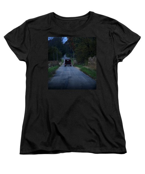 Back Roads Women's T-Shirt (Standard Cut) by Rowana Ray