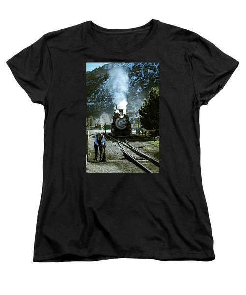 Backing Into The Station Women's T-Shirt (Standard Cut) by Jason Coward