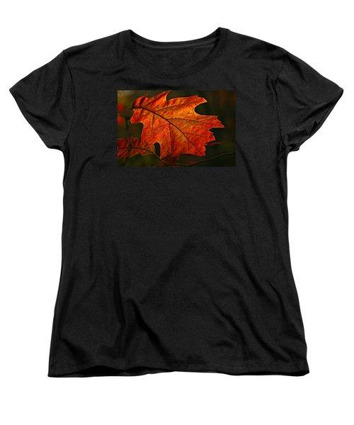 Backlit Leaf Women's T-Shirt (Standard Cut) by Shari Jardina