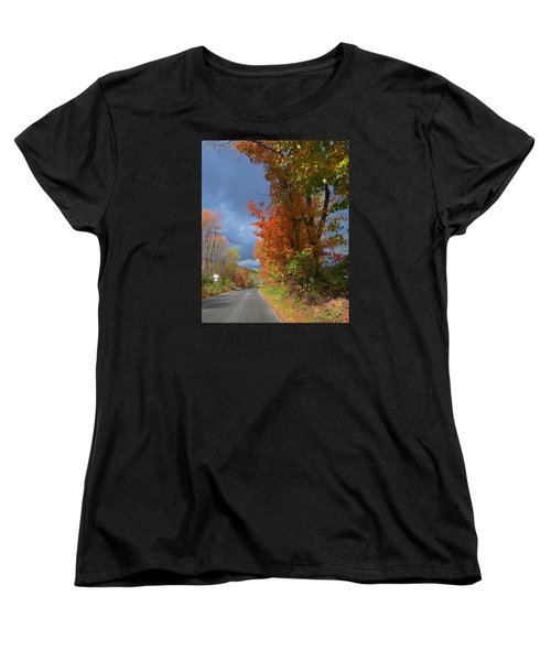 Backroad Country In Pennsylvania Women's T-Shirt (Standard Cut) by Jeanette Oberholtzer