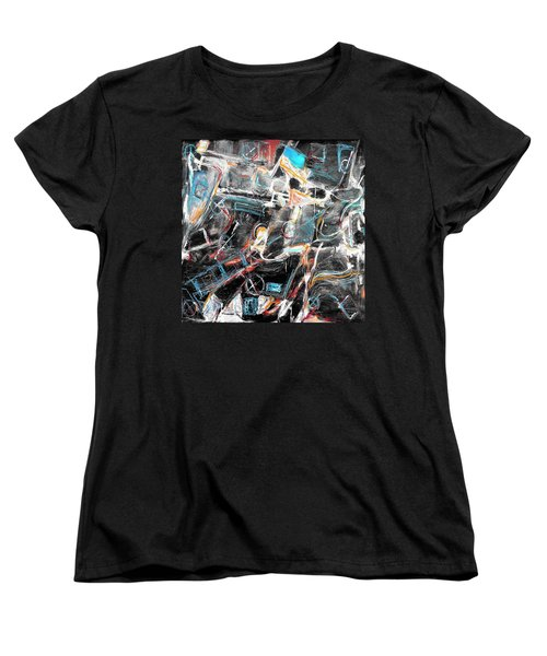 Women's T-Shirt (Standard Cut) featuring the painting Badlands 2 by Dominic Piperata