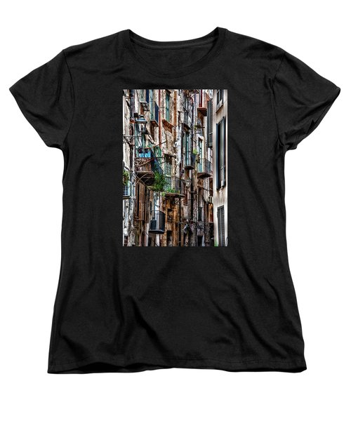 Balconies Of Palermo Women's T-Shirt (Standard Cut) by Patrick Boening