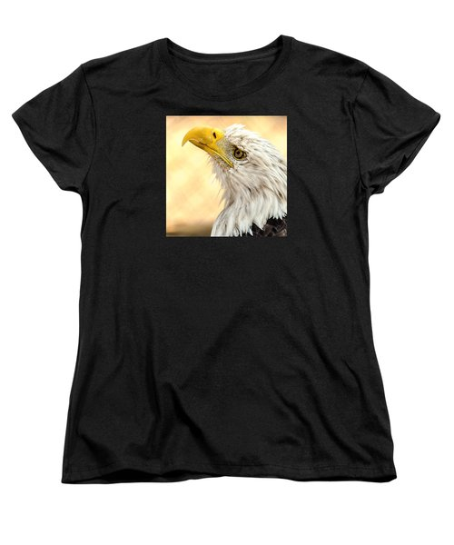 Women's T-Shirt (Standard Cut) featuring the photograph Bald Eagle Portrait by Yeates Photography