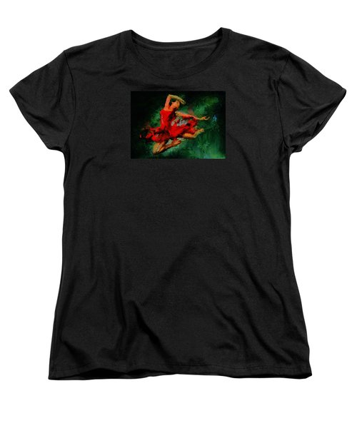 Ballerina Girl -  Love Is Seduction  Women's T-Shirt (Standard Cut) by Sir Josef - Social Critic -  Maha Art