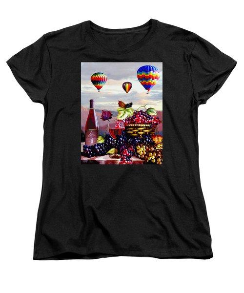 Balloon Ride At Dawn Women's T-Shirt (Standard Cut) by Ron Chambers