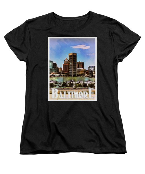 Baltimore Skyline Women's T-Shirt (Standard Cut) by Kai Saarto