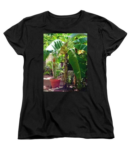 Women's T-Shirt (Standard Cut) featuring the painting Banana Tree by David  Van Hulst