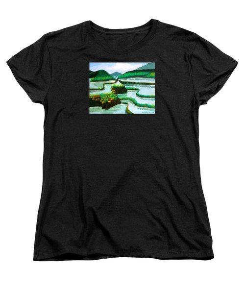 Banaue Women's T-Shirt (Standard Cut) by Cyril Maza