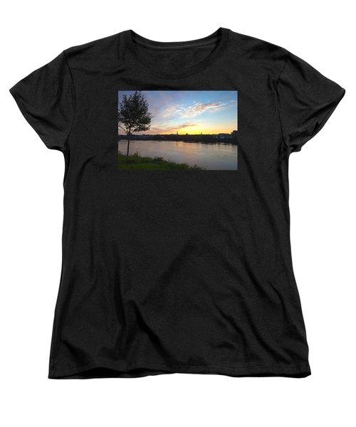 Bangor Sunset Women's T-Shirt (Standard Cut) by Melinda Fawver
