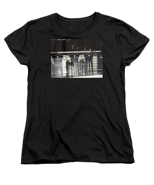 Women's T-Shirt (Standard Cut) featuring the photograph Bar And Stools by Sarah Loft