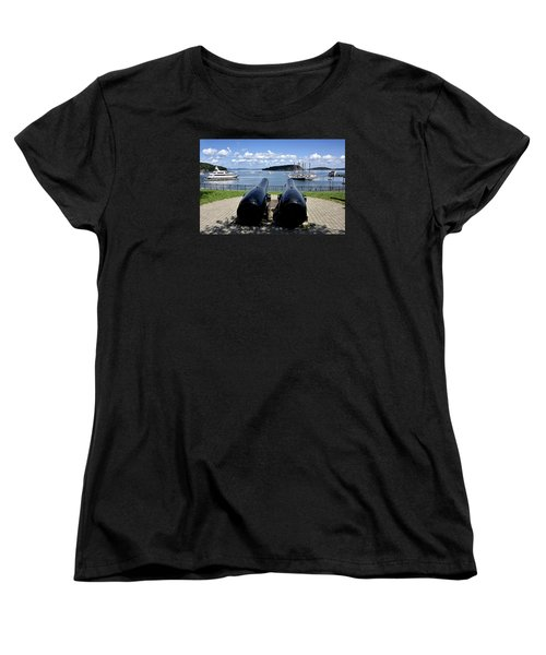 Bar Harbor - Maine - Canons At Agamont Park Women's T-Shirt (Standard Cut) by Brendan Reals