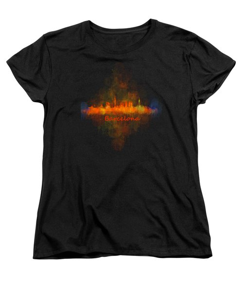 Barcelona City Skyline Uhq _v4 Women's T-Shirt (Standard Cut) by HQ Photo