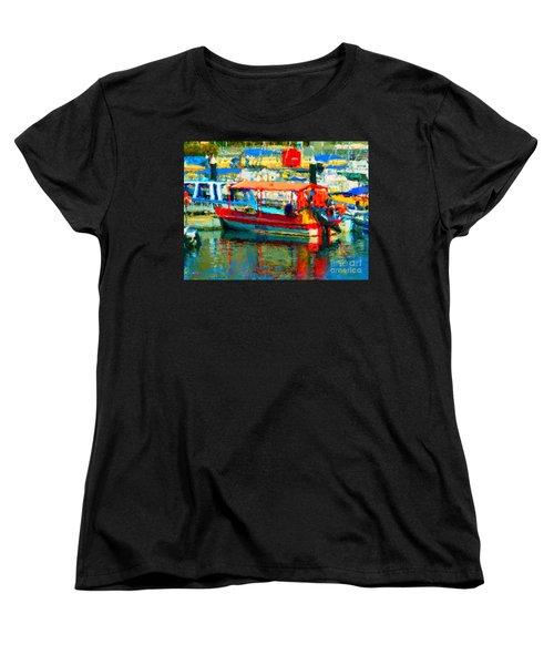 Barco En Cabo Marina Women's T-Shirt (Standard Cut) by Gerhardt Isringhaus