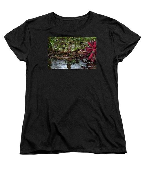 Bare-throated Tiger-heron Women's T-Shirt (Standard Cut) by James David Phenicie